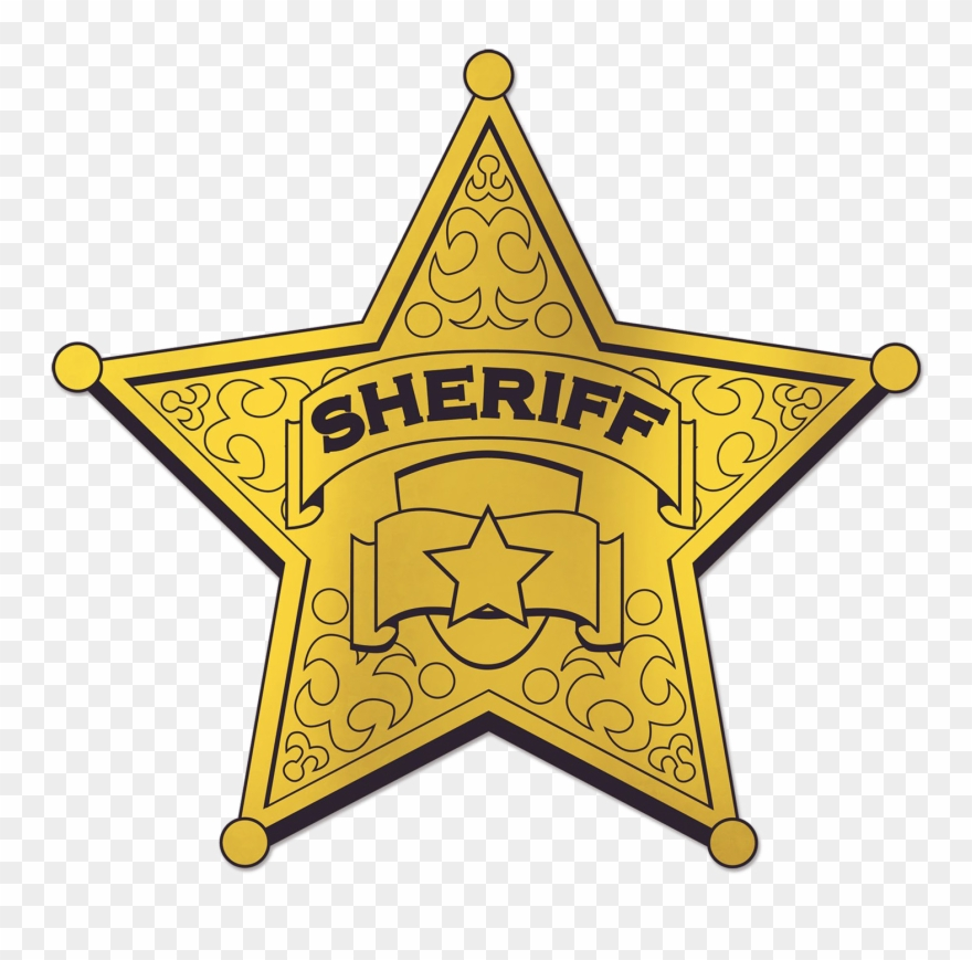 Sheriff png hd . Badge clipart printable