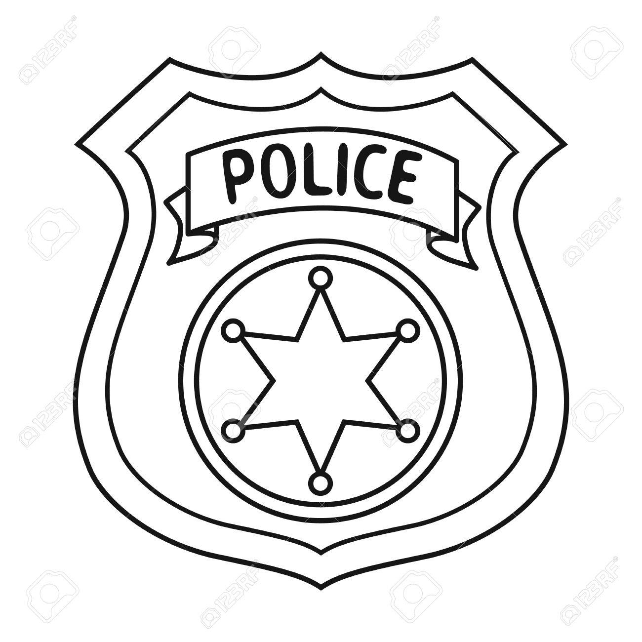 Cop clipart police badge. Printable free download best