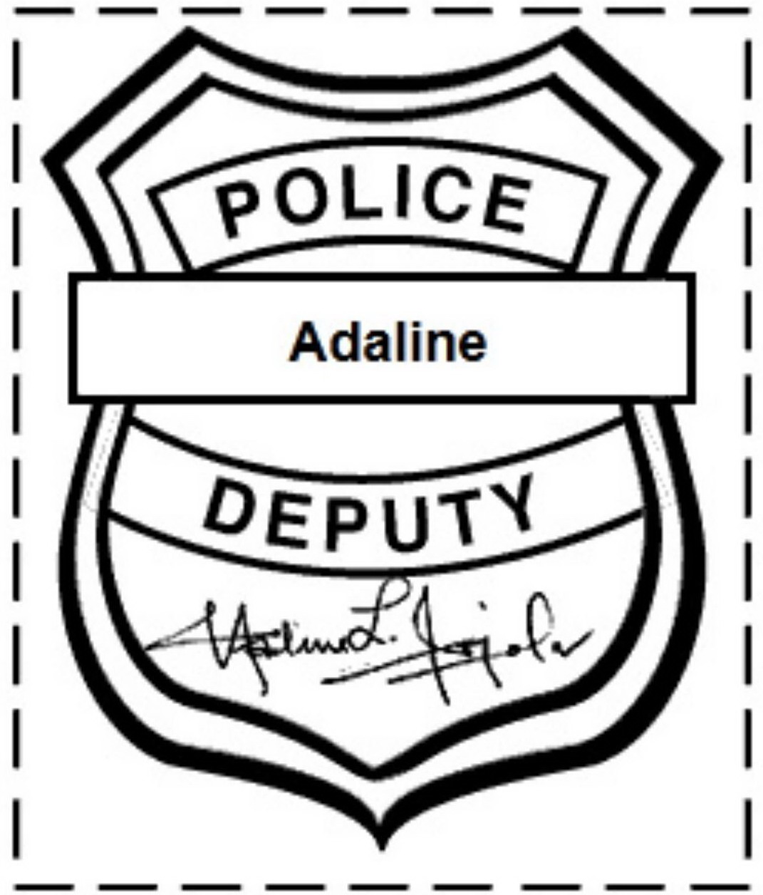 Badge clipart printable. Free police template clipartix