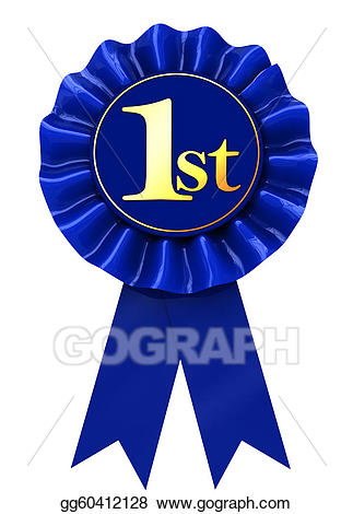 Stock illustration first place. Badge clipart ribbon