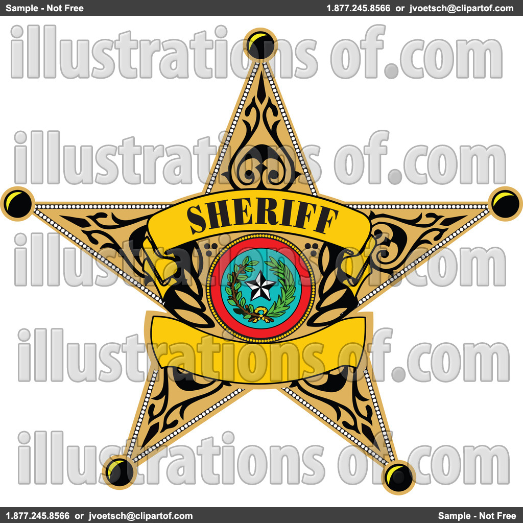 Police black and white. Badge clipart rope