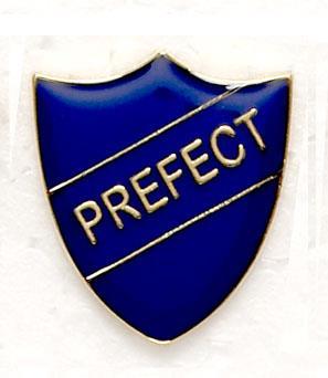 Prefect shield badges blue. Badge clipart school