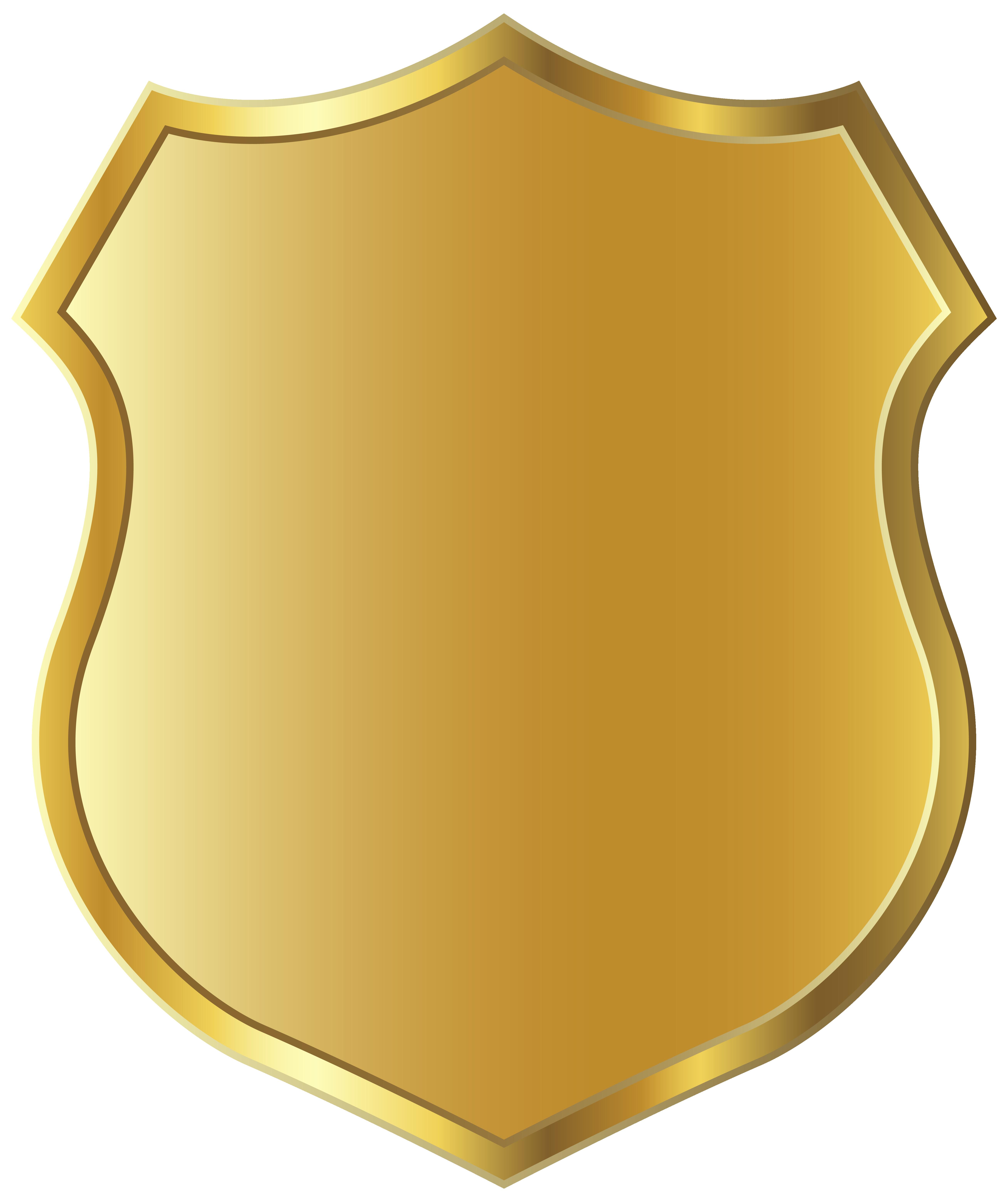 Badge clipart school. Golden template png picture