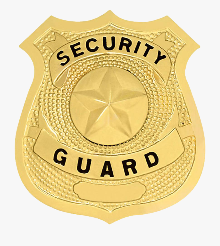 Guard png download logo. Badge clipart security officer