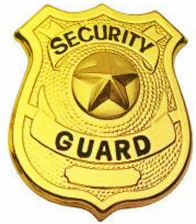 Guard badges . Badge clipart security officer