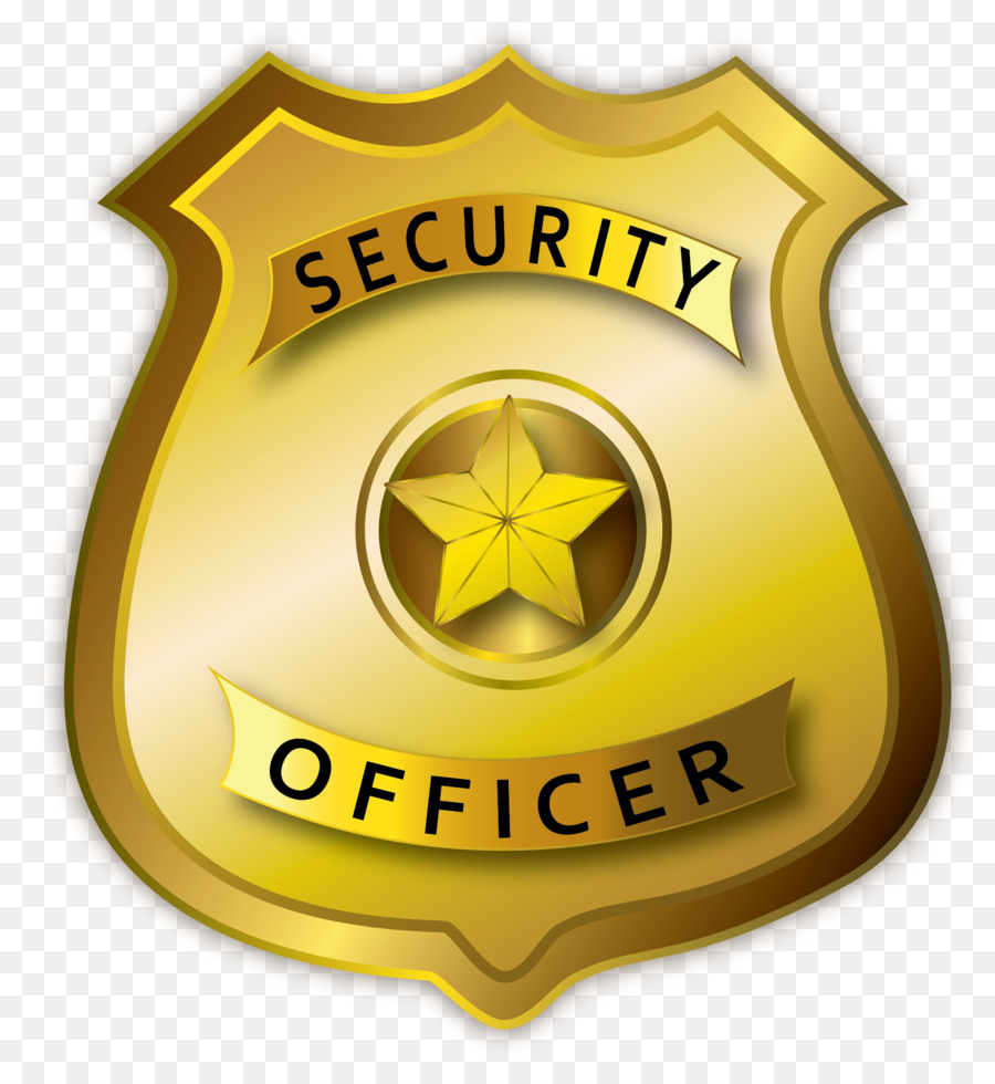 Badge clipart security officer. Police cartoon transparent clip