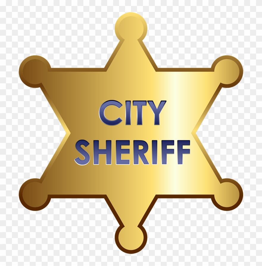 Star badges png format. Badge clipart sheriff