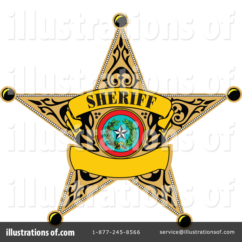 Badge clipart sheriff. Illustration by leonid royaltyfree