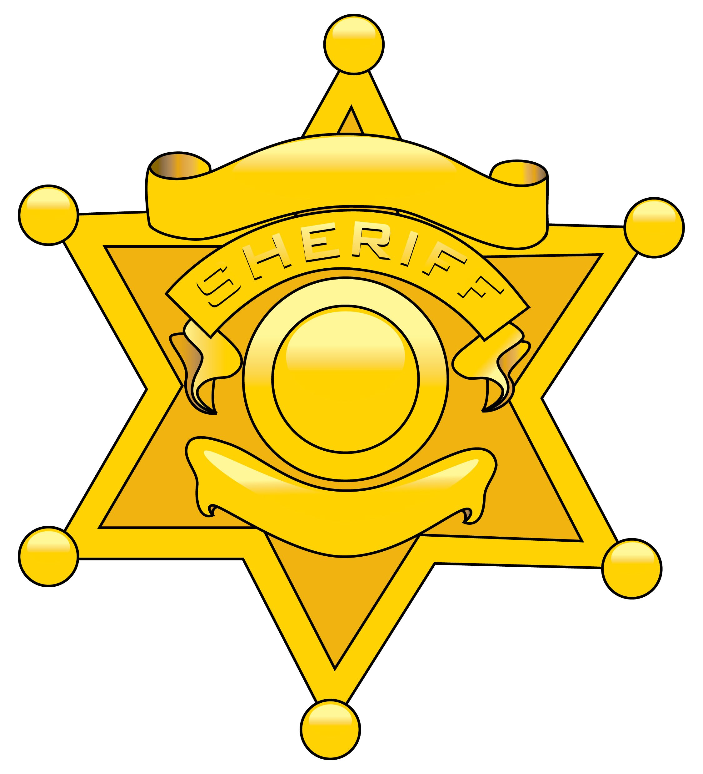 Gallery for police cartoon. Badge clipart sheriff