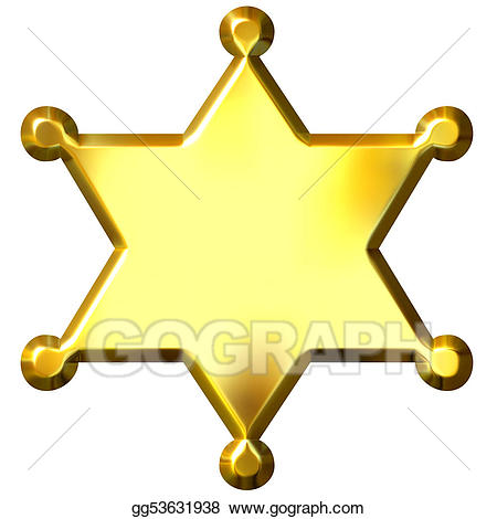 Badge clipart sheriff. Drawing d golden s