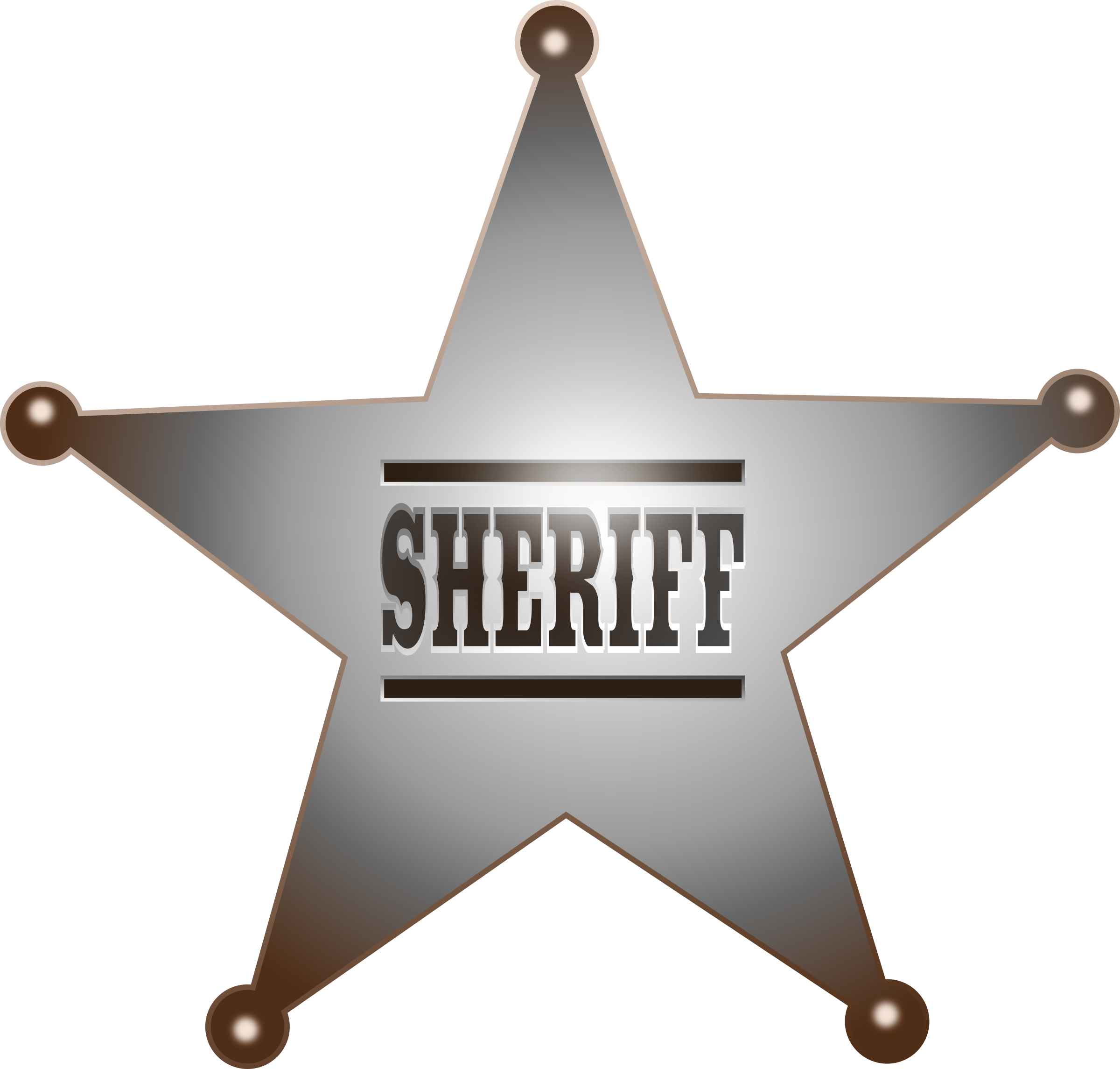 Clipart stars sherrif. Sheriff star big image