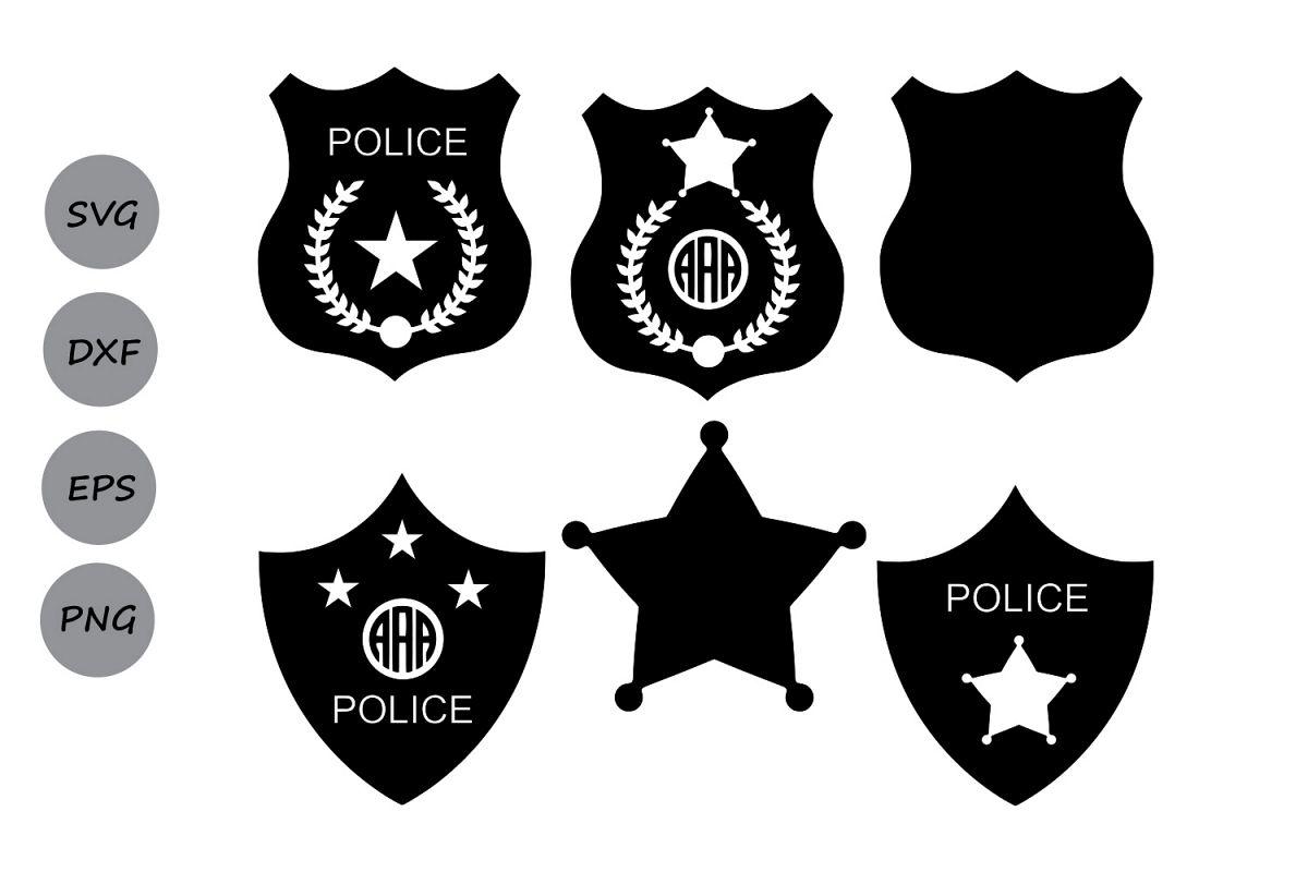 Police svg ba design. Badge clipart shield