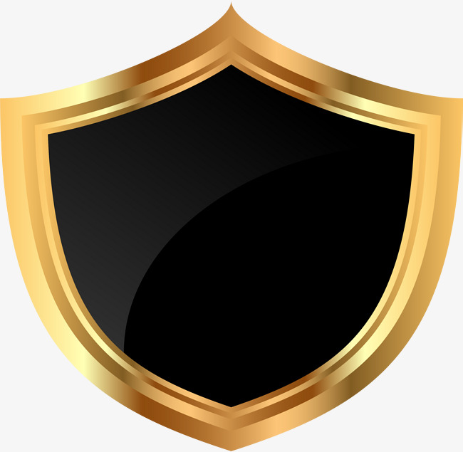 Badge clipart shield. Golden png image and