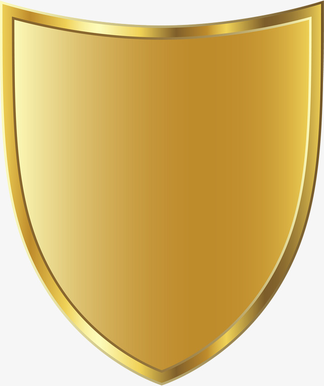 Golden png image and. Badge clipart shield