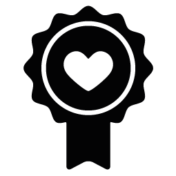 Badge clipart silhouette. Heart of download png