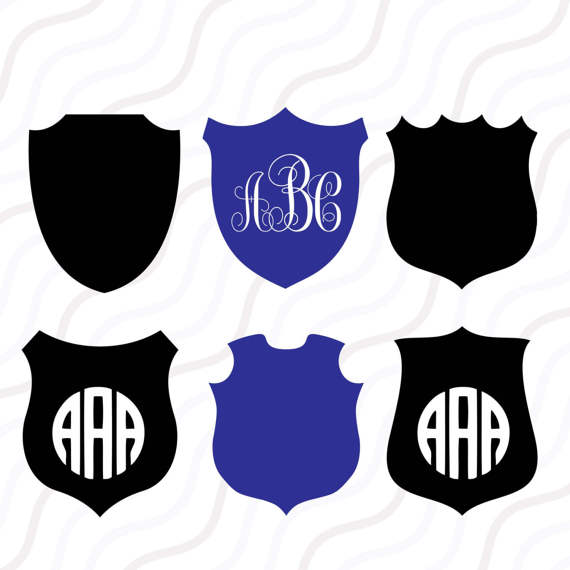 Police svg cut table. Badge clipart silhouette
