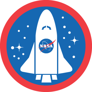 Badge clipart space. Astronaut checks in to