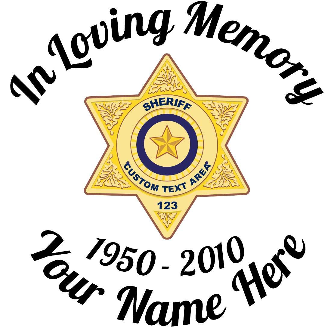 Customizable in loving memory. Badge clipart sticker
