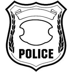 Badge clipart sticker. Police coloring page sbo