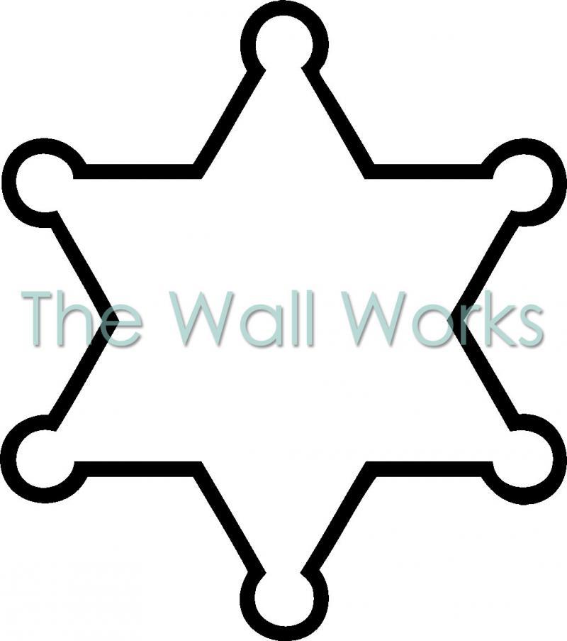 Badge clipart sticker. Blank sheriff wall vinyl