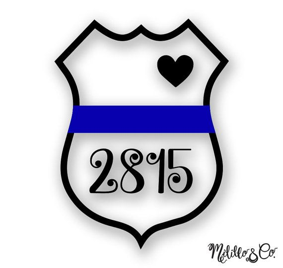 Badge clipart sticker. Thin blue line police