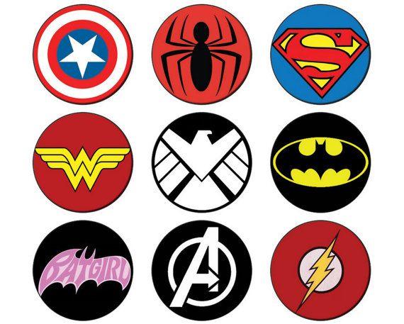 Badge clipart superhero. Comic book button mm