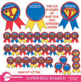 Awards rewards and badges. Badge clipart superhero