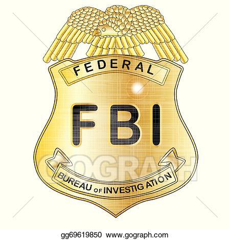 Vector art fbi drawing. Badge clipart symbol