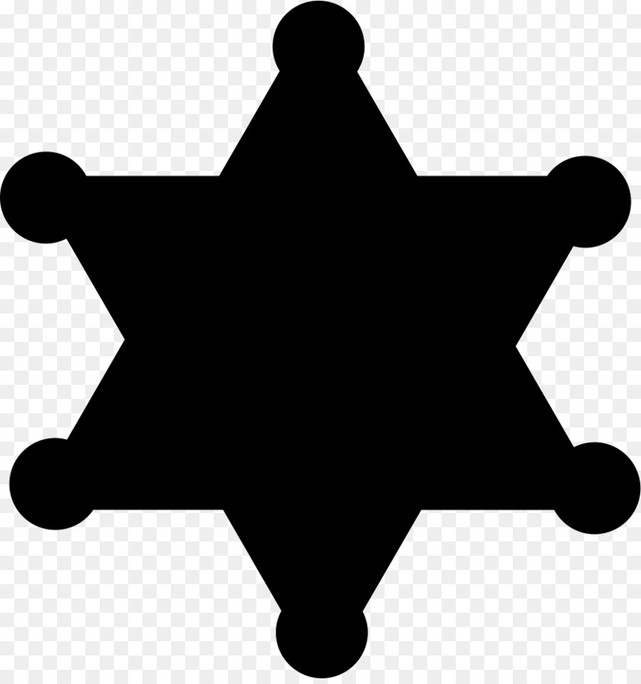Badge clipart symbol. American frontier sheriff clip