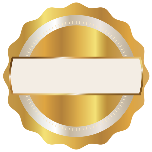 Gold seal png image. Badge clipart transparent background