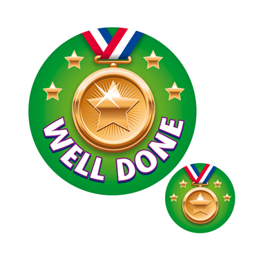 Badge clipart well done. Sports awards stickers bronze