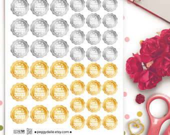 Badge clipart well done. Etsy badges planner stickers