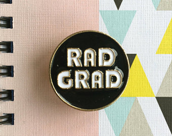 Etsy enamel pin rad. Badge clipart well done