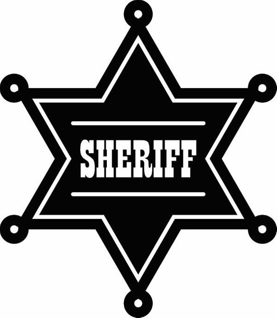 Sheriff cowboy western rodeo. Badge clipart wild west