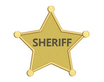 Badge clipart wild west. Sheriff etsy machine embroidery