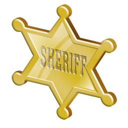 Badge clipart wild west. Sheriff icon png insignia