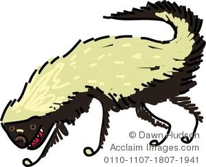 Badger clipart. Image of whimsical honey