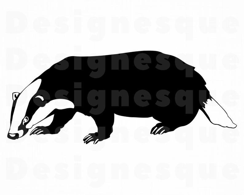 Badger clipart. Svg files for cricut