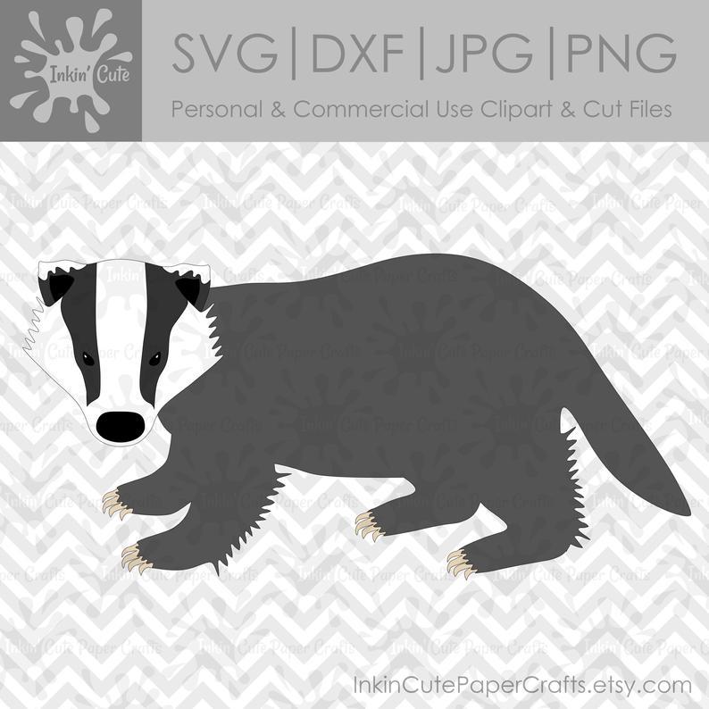 Svg woodland animal animals. Badger clipart