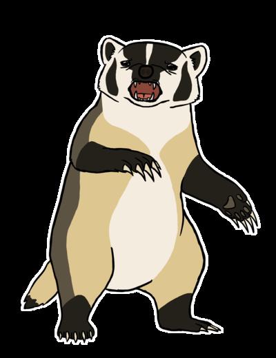 By soyrwoo on deviantart. Badger clipart american badger