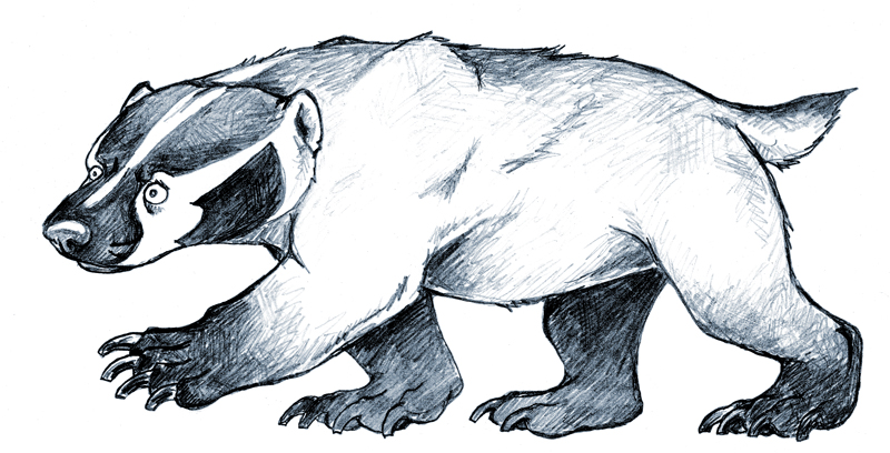 By rgyoung on deviantart. Badger clipart american badger
