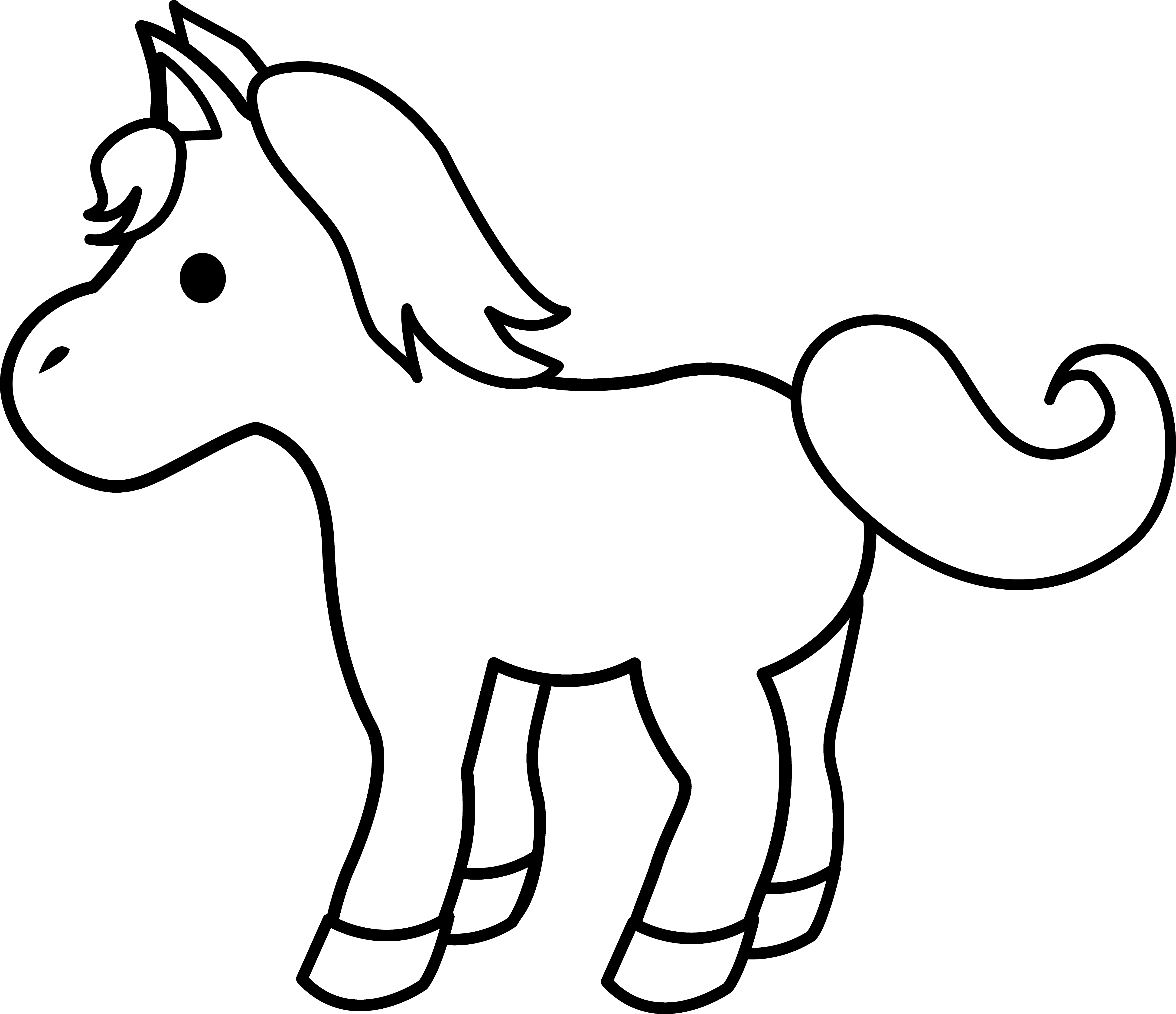 Clipart horse simple. Cute cartoon baby images