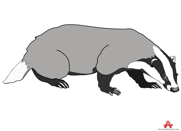 Wisconsin free images at. Badger clipart ant eater