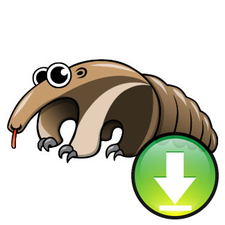 Cartoon anteater image download. Badger clipart ant eater