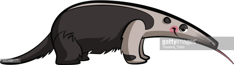 Badger clipart ant eater. Anteater collection cartoon animal