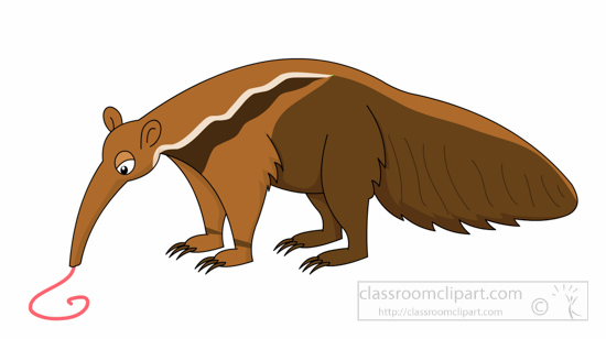 Anteater collection animal giantanteatereatingclipart. Badger clipart ant eater