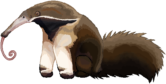Badger clipart ant eater. Giant anteater by kaileo