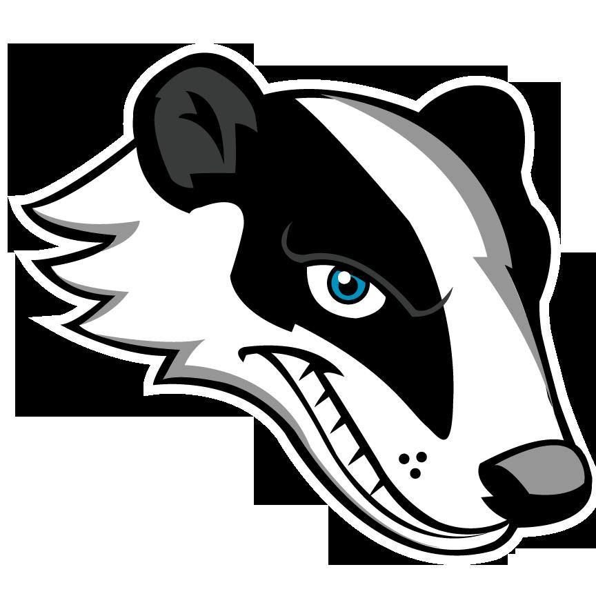 Clipart panda mascot. Badger