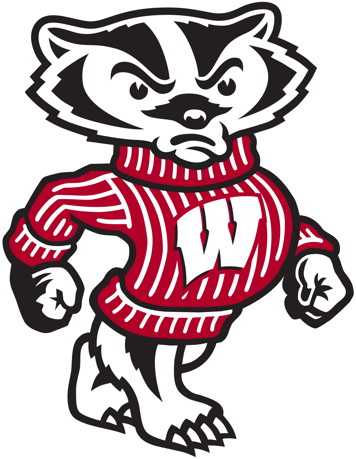 Bucky wikipedia . Racoon clipart badger