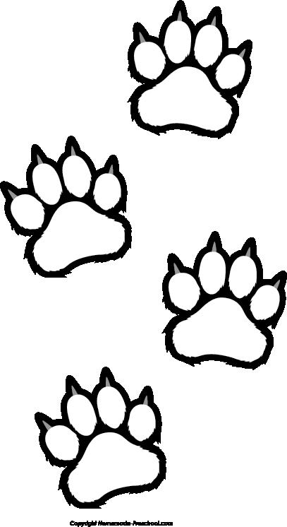 Bearcat paw print clip. Paws clipart printable